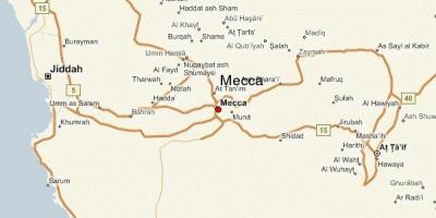 Mecca / Makkah la carte - Cartes de Mecca / Makkah (Arabie ...